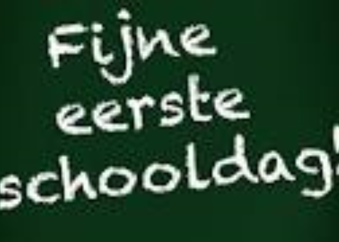 Eerste schooldag dinsdag 27 augustus